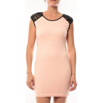 Kleidung Damen Kurze Kleider Dress Code Robe Love Look 320 Rose Rose