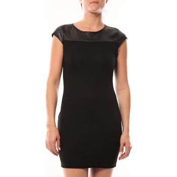 Kleidung Damen Kurze Kleider Dress Code Robe Love Look 319 Noir Schwarz