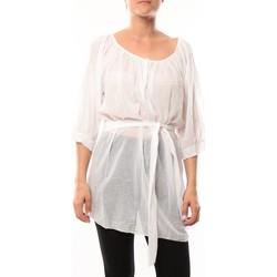 Kleidung Damen Tuniken De Fil En Aiguille Robe JL Blanc Weiss