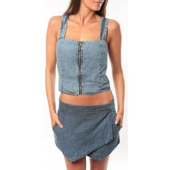 Kleidung Damen Tops Dress Code Bustier Saxx Bleu Blau
