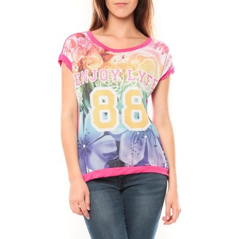 Kleidung Damen T-Shirts Tcqb T-shirt 88 Rose Rose