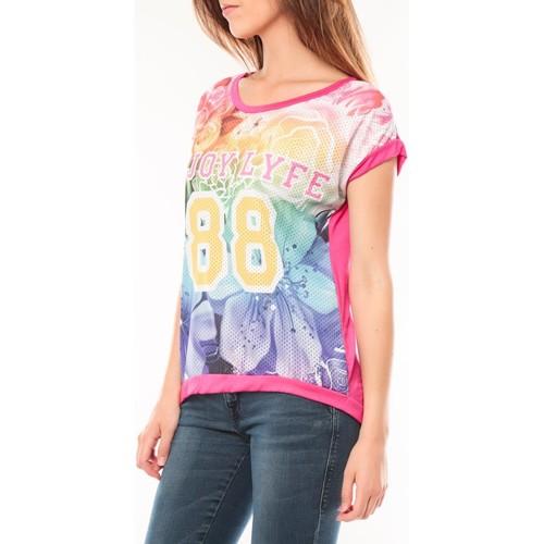 Tcqb T-shirt 88 Rose Rose - Kleidung T-Shirts Damen 600 ciSyt