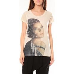 Kleidung Damen T-Shirts Tcqb Tee shirt Y-0008 Beige Beige
