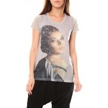 Kleidung Damen T-Shirts Tcqb Tee shirt Y-0008 Gris Grau