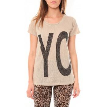 Kleidung Damen T-Shirts Tcqb Tee shirt SL1511 Beige Beige