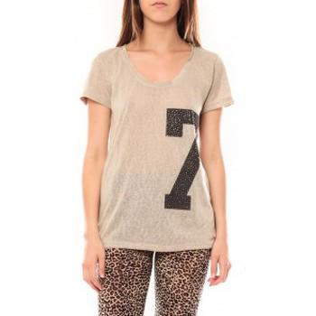 Kleidung Damen T-Shirts Tcqb Tee shirt SL1601 Beige Beige