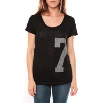 Kleidung Damen T-Shirts Tcqb Tee shirt SL1601 Noir Schwarz