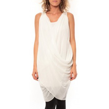 Kleidung Damen Kleider By La Vitrine ROBE Blakie SL Short Dress  Blanc Weiss