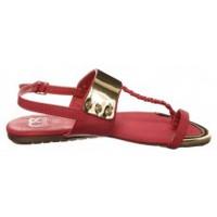 Schuhe Damen Zehensandalen Cassis Côte d'Azur Sandales Fiduz Rouge Rot