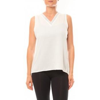 Kleidung Damen Tops De Fil En Aiguille Débardeur Voyelle L147 Blanc Weiss