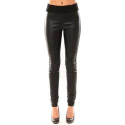 Kleidung Damen Leggings Vero Moda Snake PU Legging LCS 10117978 Noir Schwarz