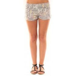 Kleidung Damen Shorts / Bermudas De Fil En Aiguille Short Victoria & Karl Gris Grau