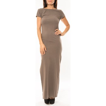 Kleidung Damen Maxikleider Sweet Company Robe longue Fashion Beige Beige
