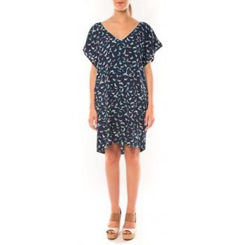 Kleidung Damen Kleider Dress Code Robe It Hippie K536-1 Bleu/Blanc Blau