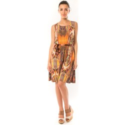 Kleidung Damen Kurze Kleider Dress Code Robe Elissa B369 Orange Orange