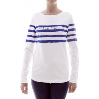 Kleidung Damen Langarmshirts Little Marcel T-shirt Tiprint H14IBF213 Blanc Weiss