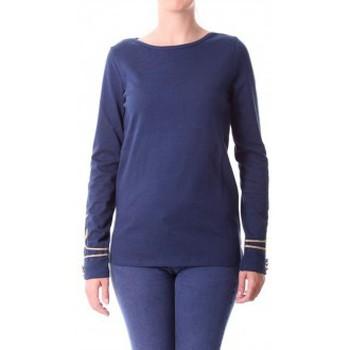 Kleidung Damen Langarmshirts Little Marcel T-shirt Tigalon H14IBF240 Bleu Blau