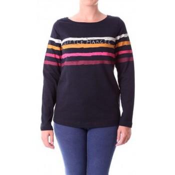 Kleidung Damen Langarmshirts Little Marcel T-shirt Tiprint Paint H14IBF190 Noir Schwarz