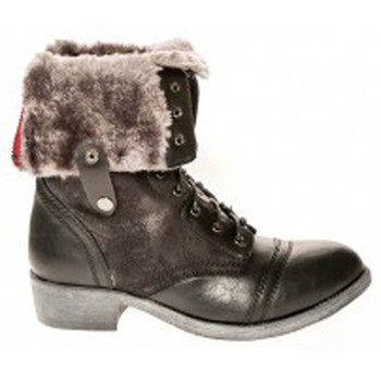 Schuhe Damen Low Boots Cassis Côte d'Azur Bottines Arabella Noir Schwarz