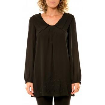Kleidung Damen Hemden Vision De Reve Vision de Rêve Chemisier Col Claudine IP11013 Noir Schwarz