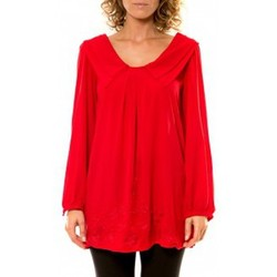 Kleidung Damen Hemden Vision De Reve Vision de Rêve Chemisier Col Claudine IP11013 Rouge Rot