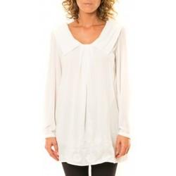 Kleidung Damen Hemden Vision De Reve Vision de Rêve Chemisier Col Claudine IP11013 Blanc Weiss