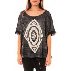 Kleidung Damen Pullover Tcqb Poncho Di&A 0196 Noir Schwarz
