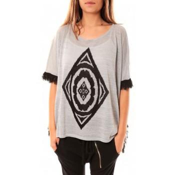 Kleidung Damen Pullover Tcqb Poncho Di&A 0196 Gris Grau