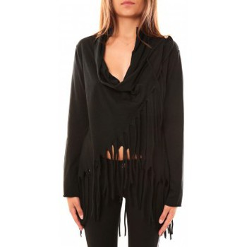 Kleidung Damen Pullover De Fil En Aiguille Pull Viki Noir Schwarz