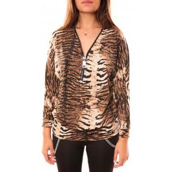 Kleidung Damen Langarmshirts Dress Code T-shirt May&CO 2529 Beige Beige