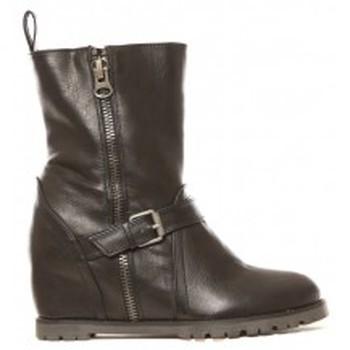Schuhe Damen Low Boots Cassis Côte d'Azur Bottines Aislinn Noir Schwarz