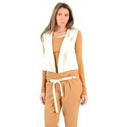 Kleidung Damen Strickjacken American Vintage GILET LEA134 NATUREL Beige
