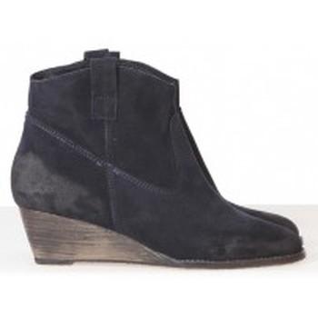 Schuhe Damen Ankle Boots Meline Méliné Boots BZ51 Marine Blau