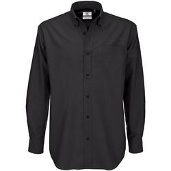 Kleidung Herren Langärmelige Hemden B And C SMO01 Schwarz