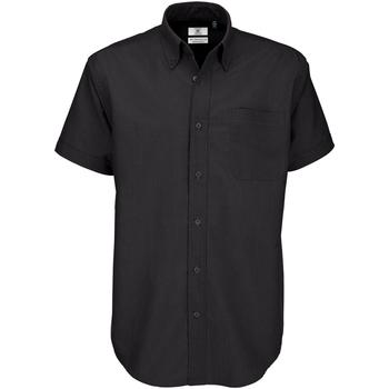 Kleidung Herren Kurzärmelige Hemden B And C SMO02 Schwarz