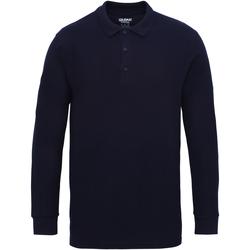 Kleidung Herren Langärmelige Polohemden Gildan 85900 Marineblau
