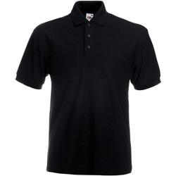 Kleidung Herren Polohemden Fruit Of The Loom 63204 Schwarz