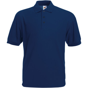 Kleidung Herren Polohemden Fruit Of The Loom 63402 Marineblau