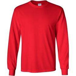 Kleidung Herren Langarmshirts Gildan 2400 Rot