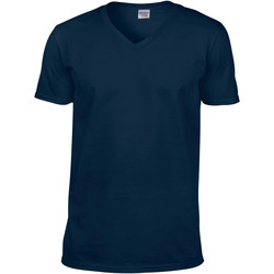 Kleidung Herren T-Shirts Gildan 64V00 Marineblau
