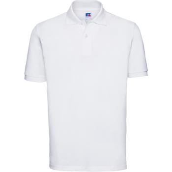 Kleidung Herren Polohemden Russell 569M Weiß