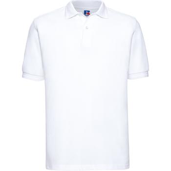 Kleidung Herren Polohemden Russell Ripple Weiß
