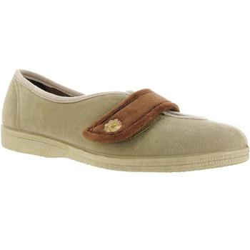 Schuhe Damen Hausschuhe Mirak Andrea Beige