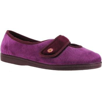 Schuhe Damen Hausschuhe Mirak Andrea Weinrot