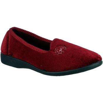 Schuhe Damen Hausschuhe Mirak Simone Burgunder