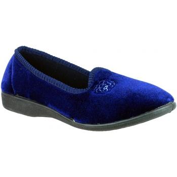 Schuhe Damen Hausschuhe Mirak Simone Dunkelblau