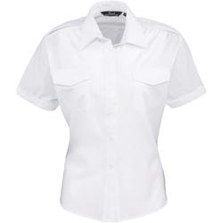 Kleidung Damen Hemden Premier PR312 Weiß