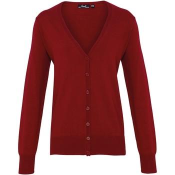 Kleidung Damen Strickjacken Premier Button Through Burgunder