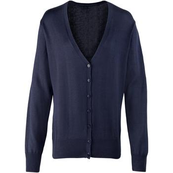 Kleidung Damen Strickjacken Premier Button Through Marineblau
