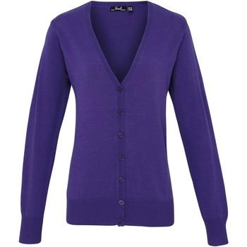 Kleidung Damen Strickjacken Premier Button Through Violett